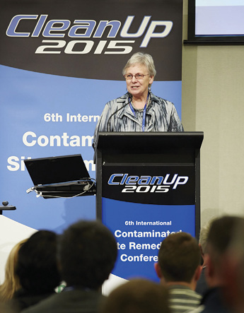 EPA Victoria Chair Ms Cheryl Batagol presents the Brian Robinson memorial lecture at CleanUp 2015, Melbourne