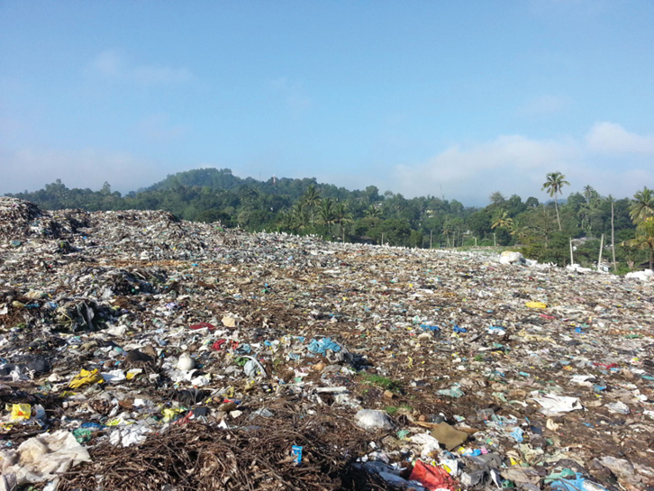 A municipal solid waste site in Sri Lanka